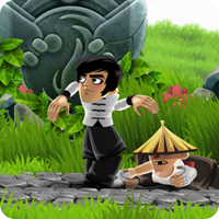Dragon Finga, action game, iPad game, review, Bruce Lee, kung fu game