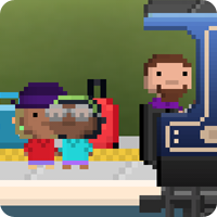 Pocket Trains, pixel art, pixel game, snake game, NimbleBit, android game. iPad game, iphone game, review