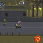 Dead Ahead, action game, iPad game, review, Zombie, runner game, bycicle